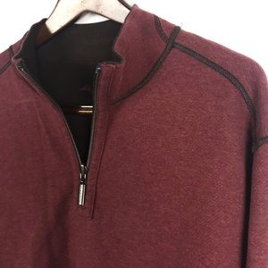 Tommy Bahama REVERSIBLE Quarter-Zip Pullover Large